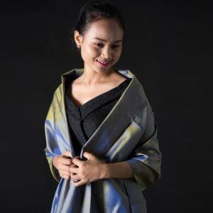 Handwoven Cambodian Silk Scarves