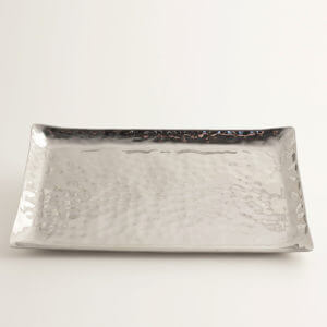 Hand Hammered Stainless Steel Trays