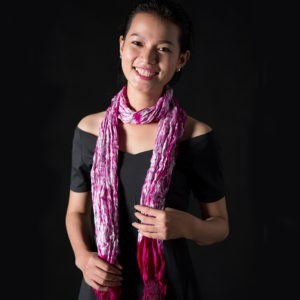 Handwoven Cambodian Silk Tie Dyed Scarves