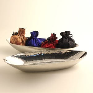 Hand Hammered Stainless Steel 'Baguette' Bowl