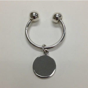 Sterling Silver Arc Screwball Key Ring