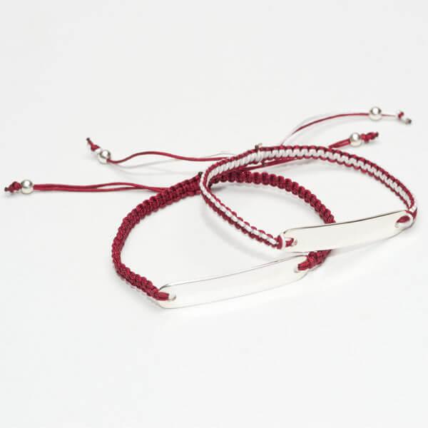 dark red ID bracelets1000WP