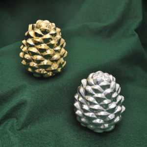 Cambodian Silver Pine Cones by Som Samay