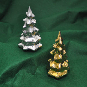 Cambodian Silver Christmas Trees by Som Samay
