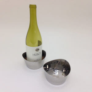 Hand Hammered Stainless Steel Bottle Coaster