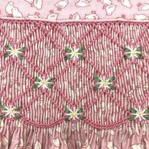 Chick Print Cap-Sleeved Dress