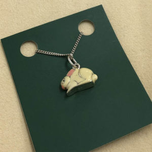 Sterling Silver Enamel-Covered Bunny