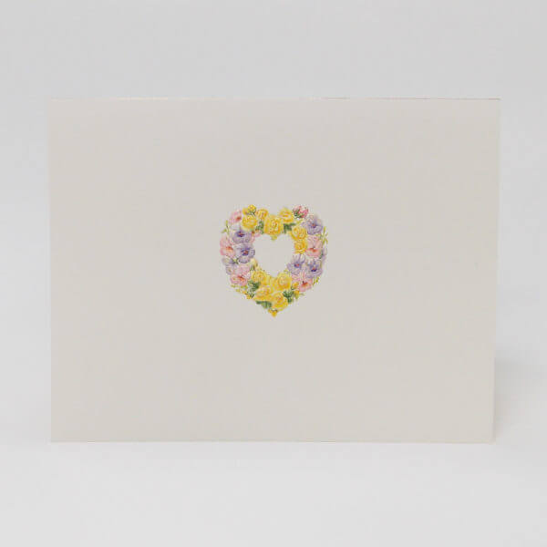 Floral Heart note card 1000 pixels