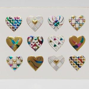 Paula Skene Designs Heart Medley birthday or note card