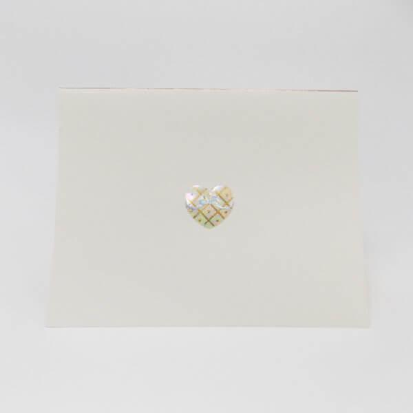 Iridescent Heart note card 1000 pixels
