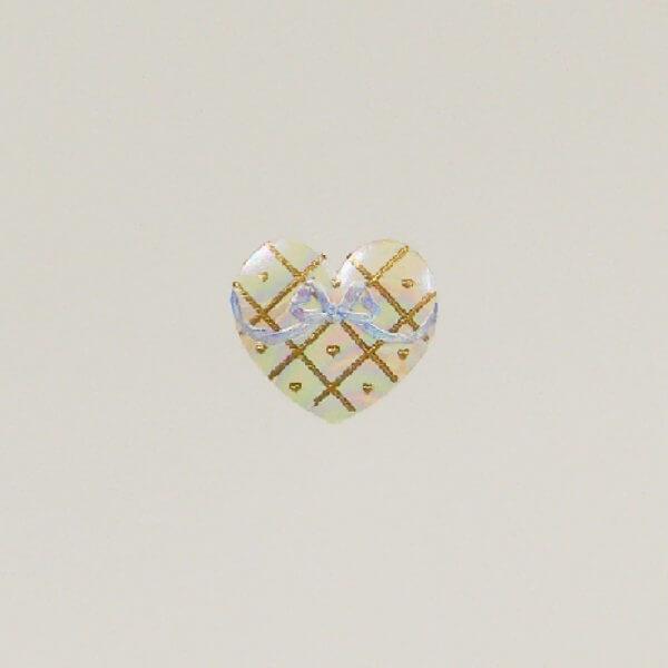 Iridescent Heart note card closeup1000 pixels