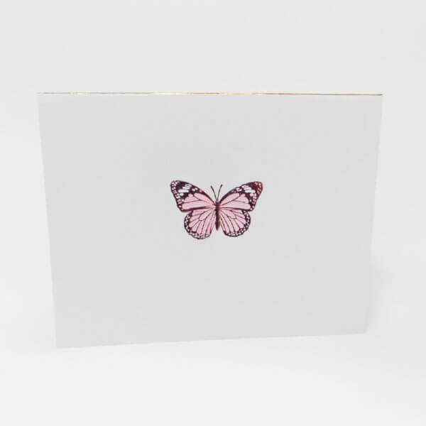 Pink Butterfly note card 1000 pixels