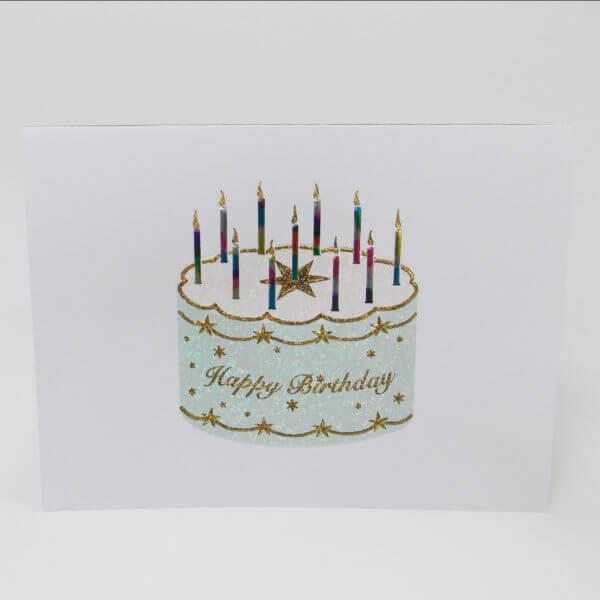 Starring birthday cake 6x6 inches