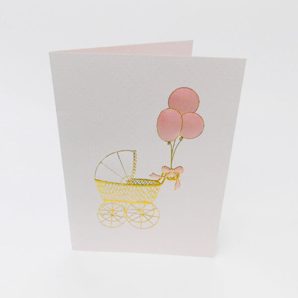 pink baby buggy card 1000 pixels