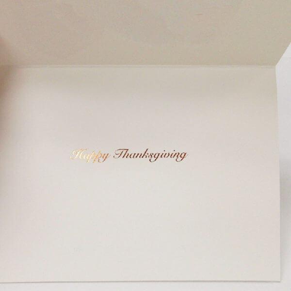 turkey Thanksgiving card inside greeting 1000 pixels