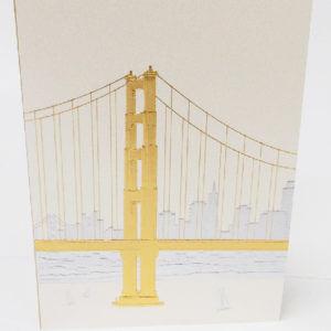 Paula Skene Designs San Francisco skyline note card