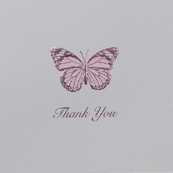 lavender butterfly 22Thank you22 note card closeup 1000 pixels 1