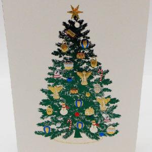 Paula Skene Designs Christmas tree card