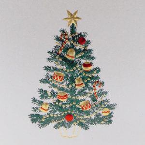 Paula Skene Designs jewel Christmas tree card