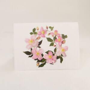Bottle Branch® botanical note cards – Pink Clematis