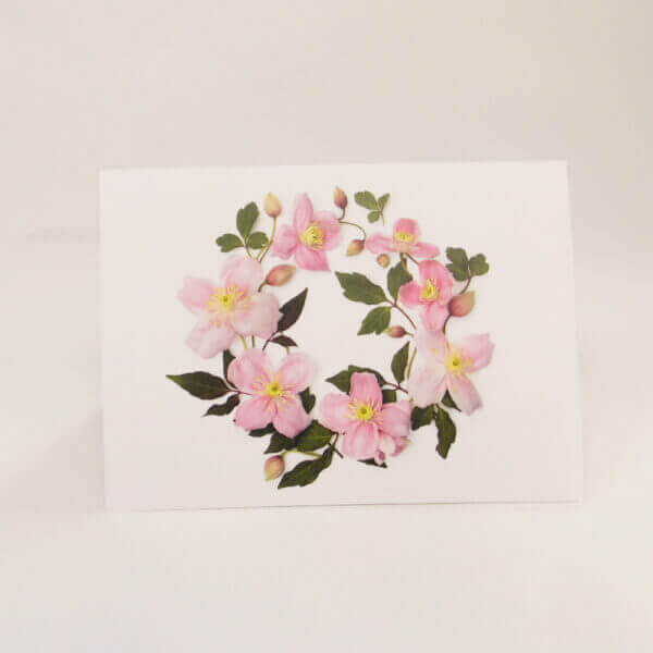 Clematis wreath note card 1000 pixels I 1