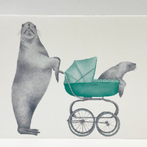 Central & Gus© Mother and Baby Sea Lion note card