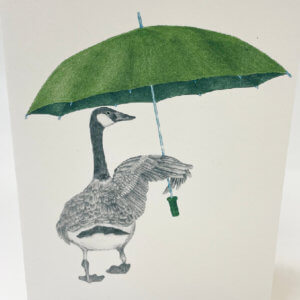Central & Gus© George August Canada Goose Note Card