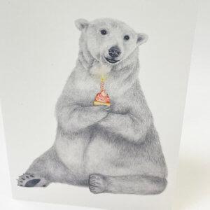 Central & Gus© Hudson Churchill Polar Bear with cupcake notecard